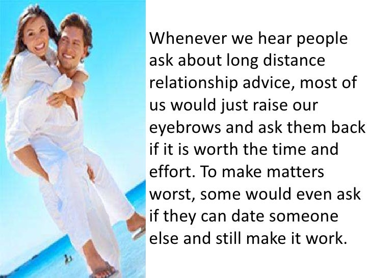 Long distance relationship advice for girl