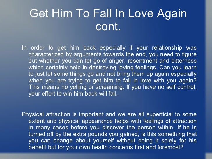 How to get your boyfriend to love you again