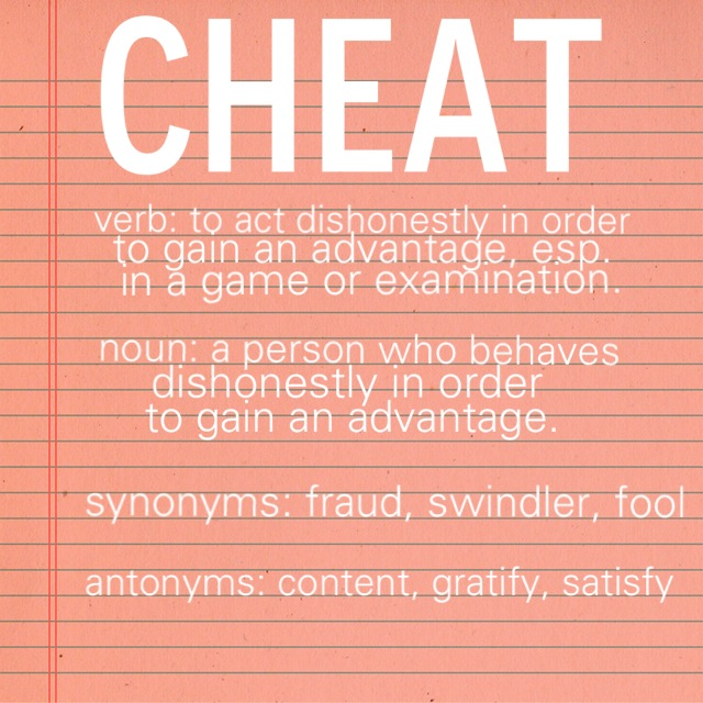 What is considered as cheating