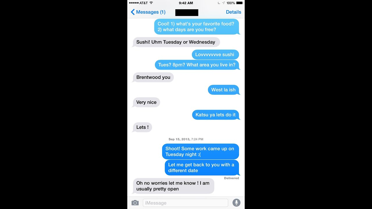 How to get to know someone through text