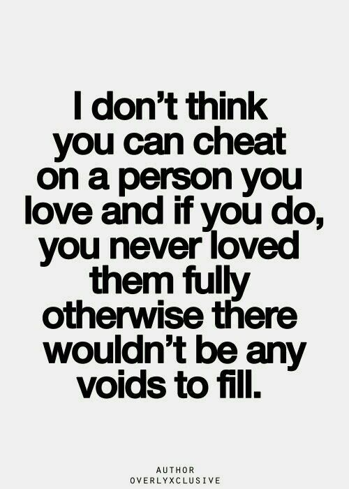 Can you love someone and cheat on them