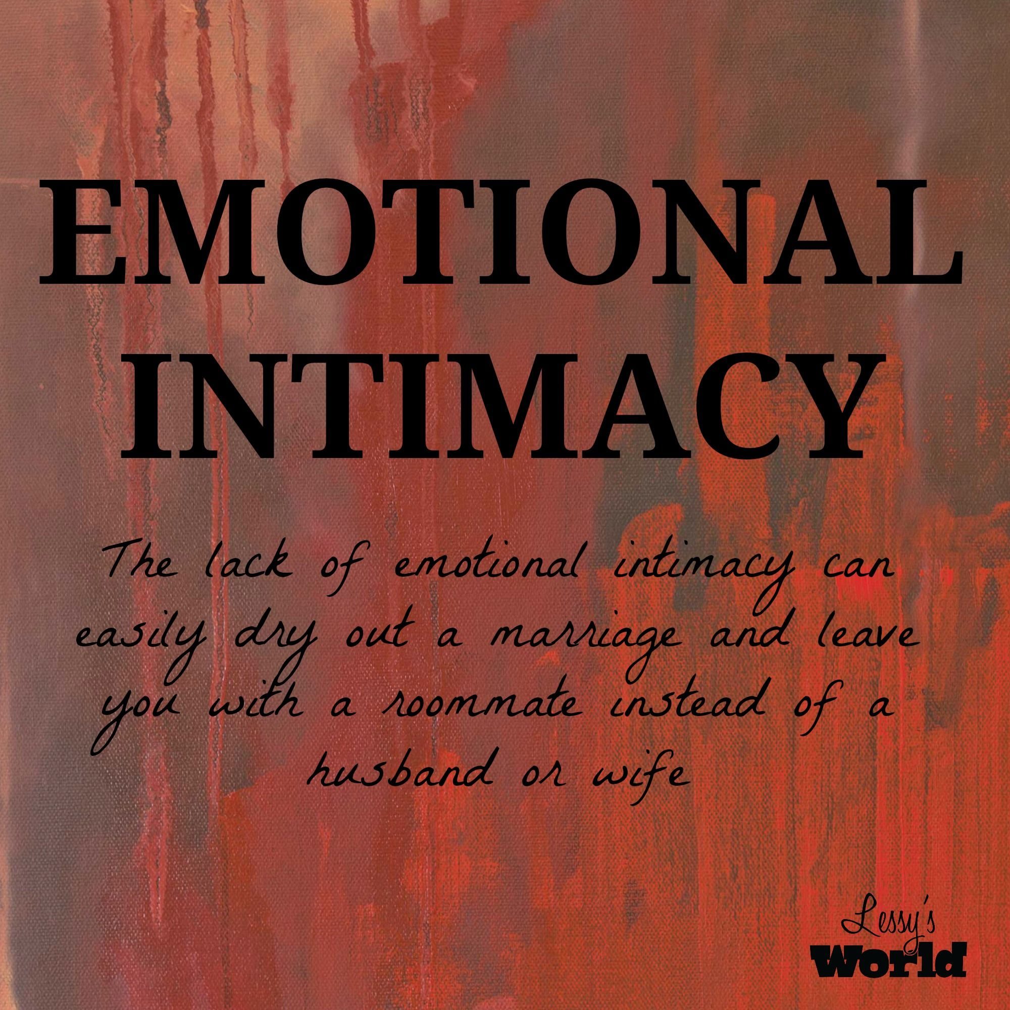 How to get emotional intimacy