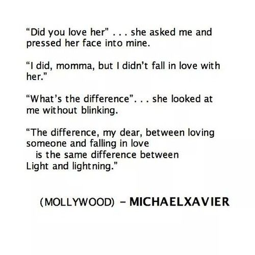 The difference between love and in love