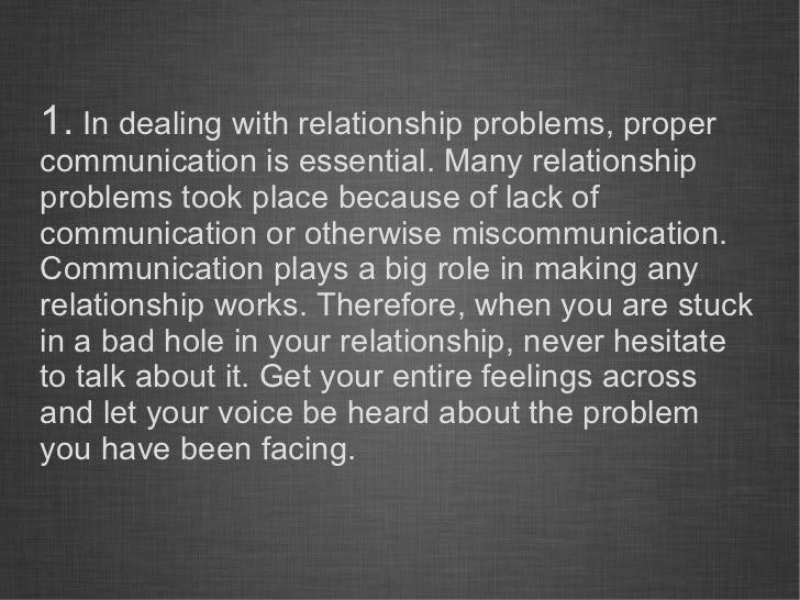 Lack of communication in relationships