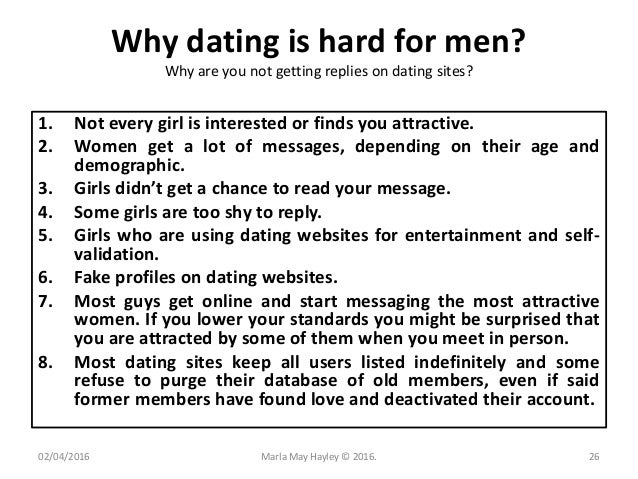 Why dating is hard