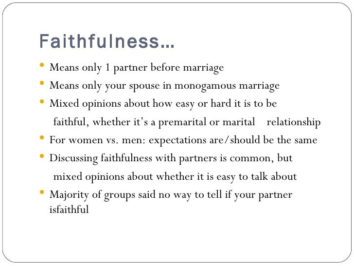 How to remain faithful in marriage
