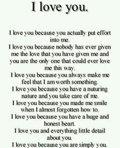 Why you love your girlfriend