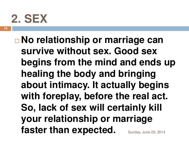 Lack of sex in marriage
