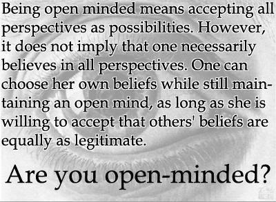 What does open mind mean