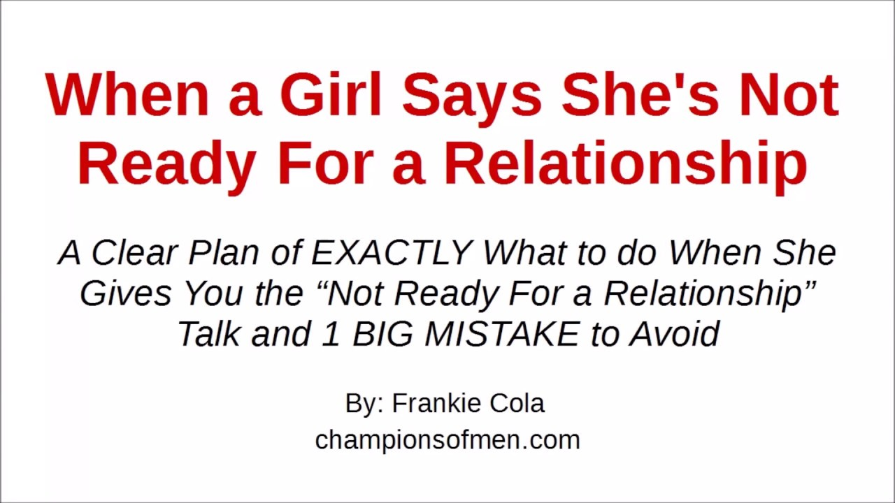 not ready for a relationship break up