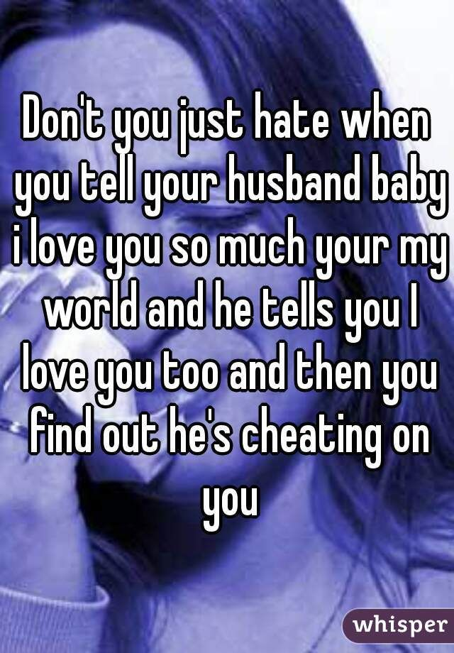 How to tell your spouse you cheated