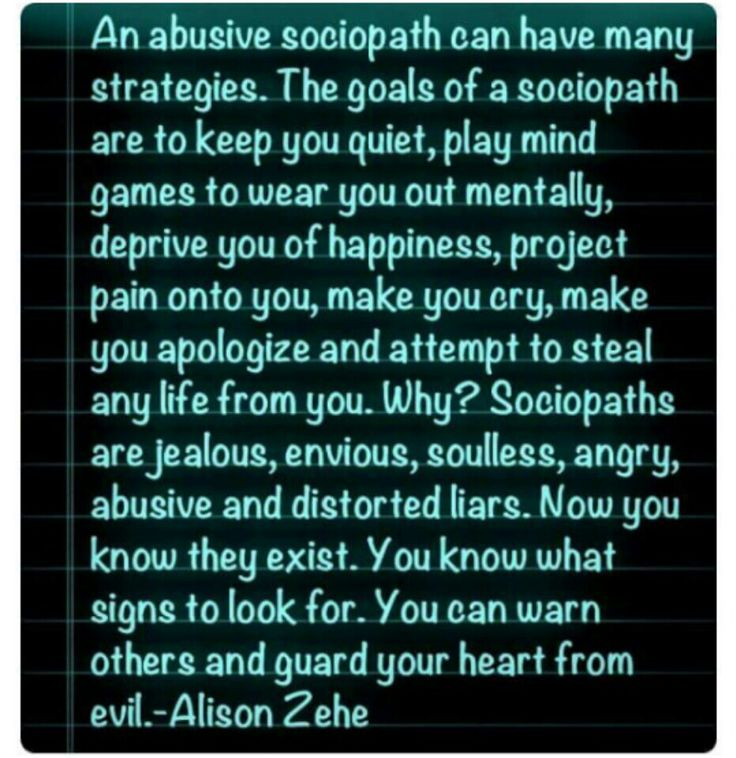 What are the signs of a sociopath