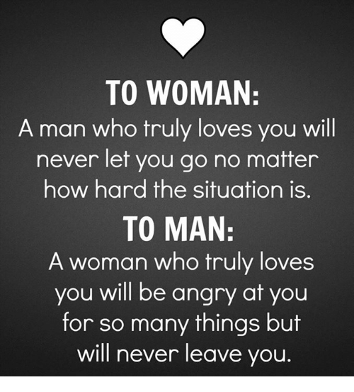 How to truly love a man