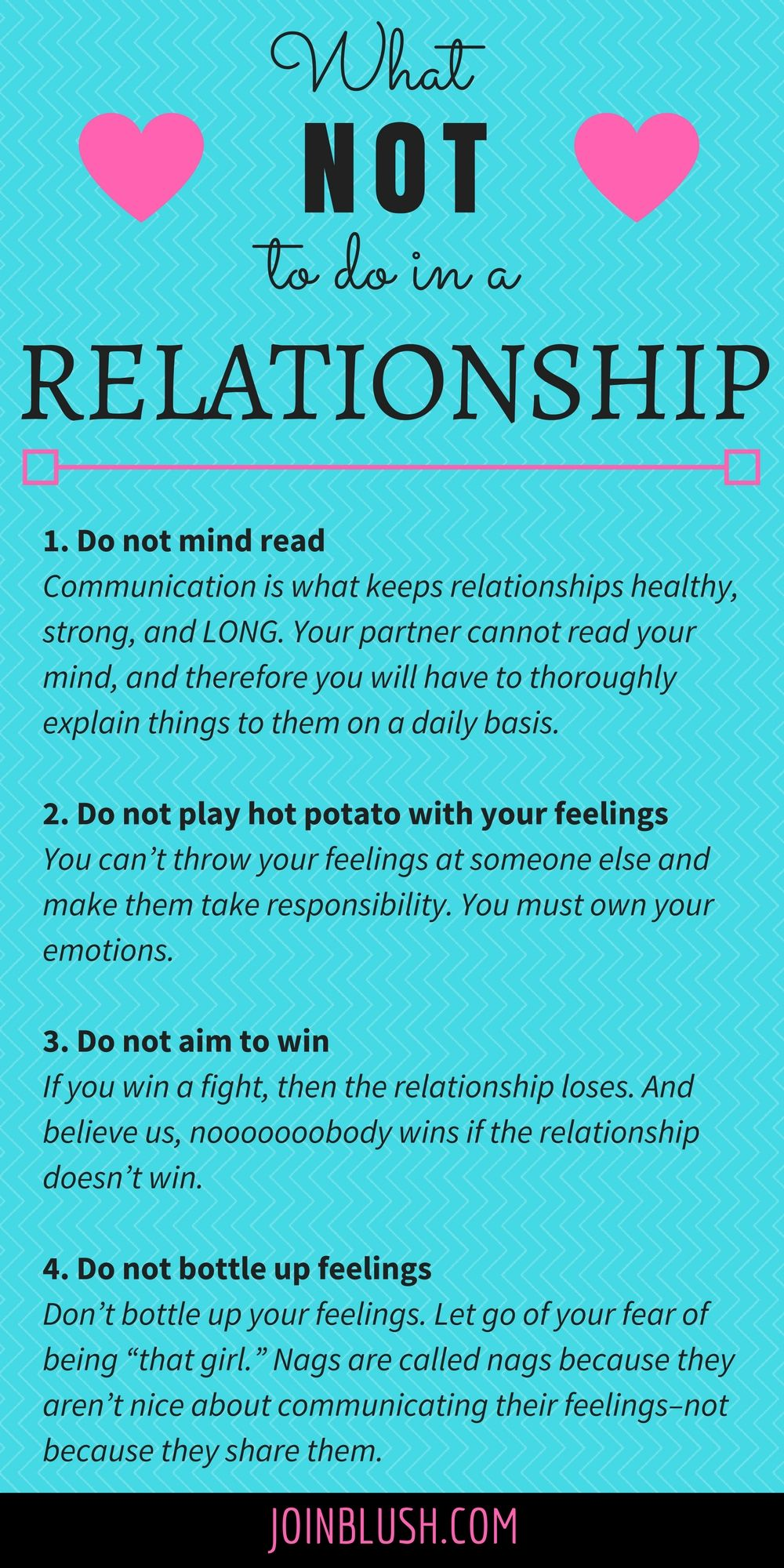What to not do in a relationship