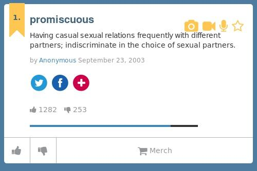 What is promiscuous mean