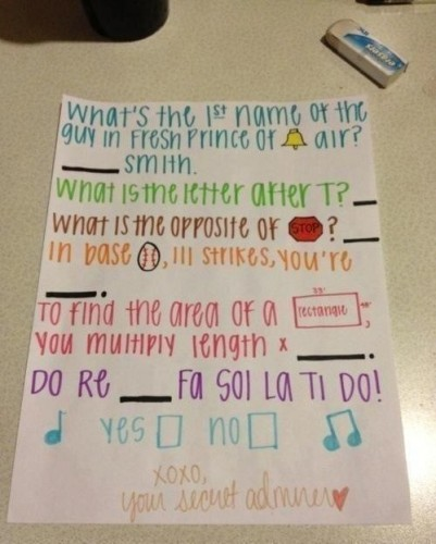 Different ways to ask a girl out