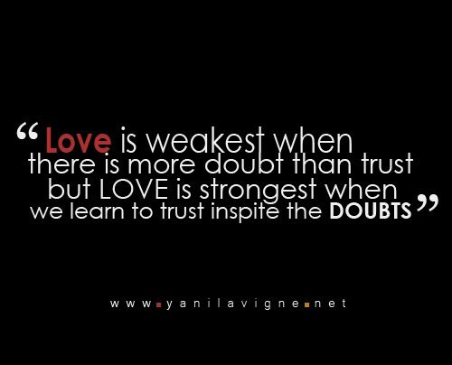 How to overcome doubt in a relationship