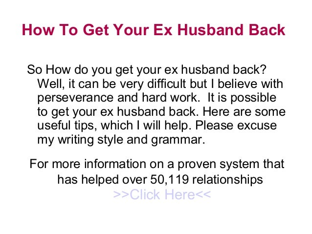 How to get over ex husband