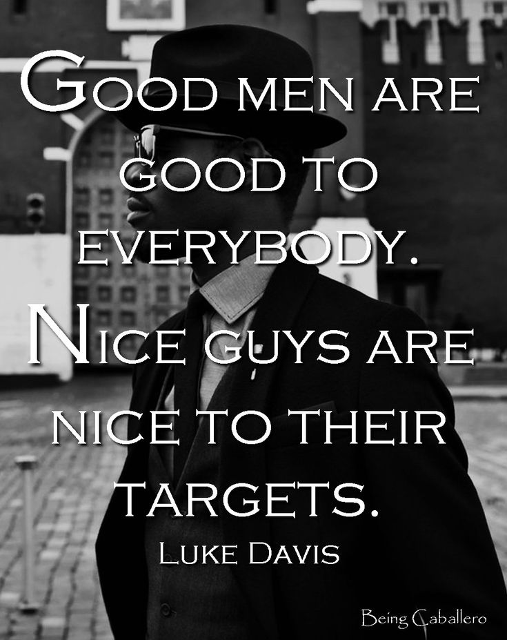 Difference between a nice guy and a good guy