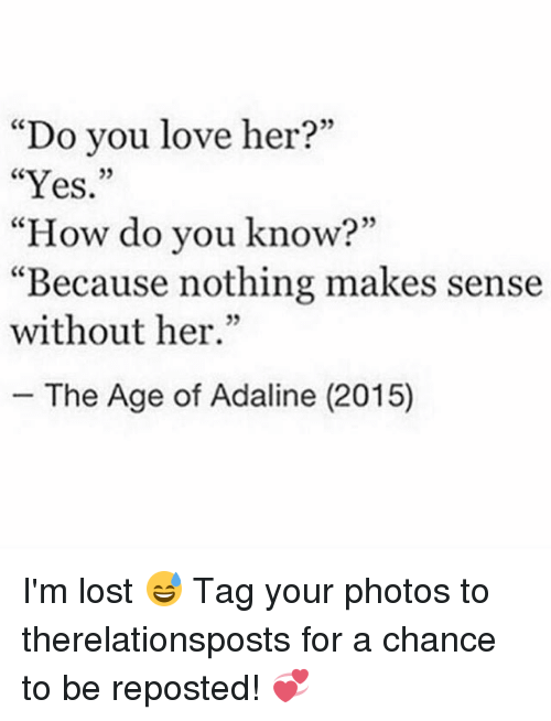 How do you know you love her