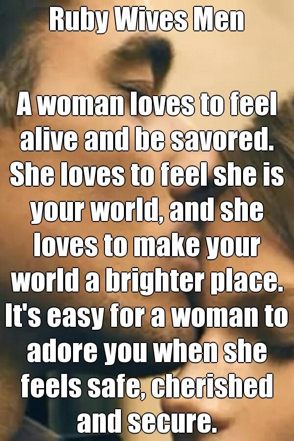 How to make a woman feel cherished