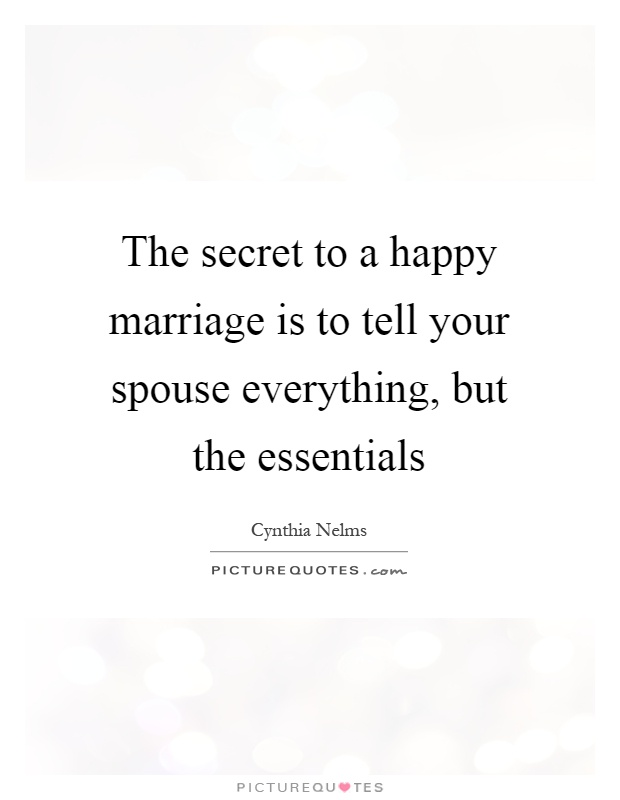 Should you tell your spouse everything