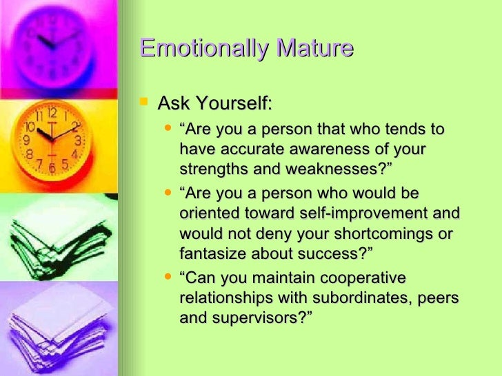 How to be emotionally mature