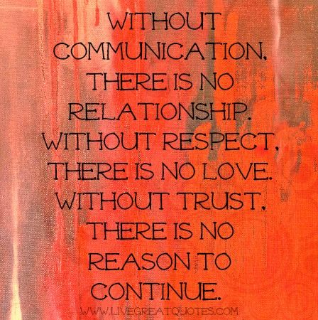 No communication in relationship