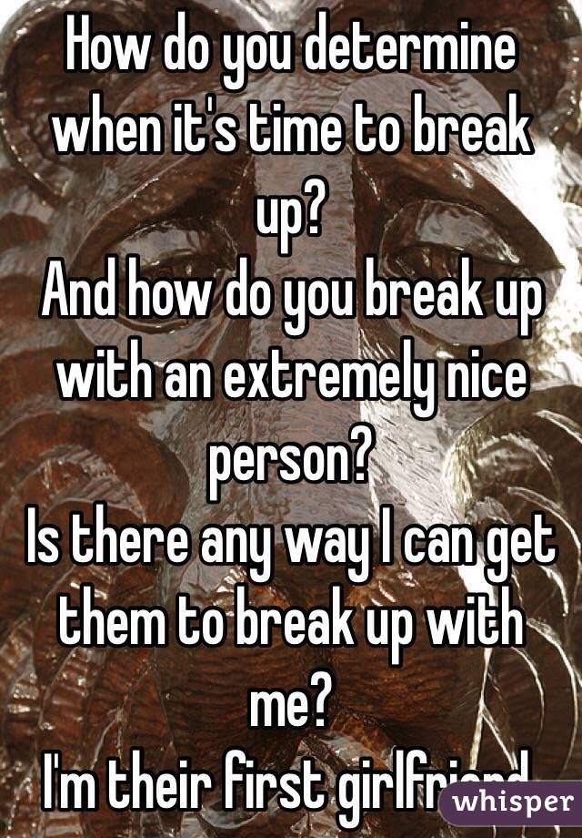 How do you know if its time to break up