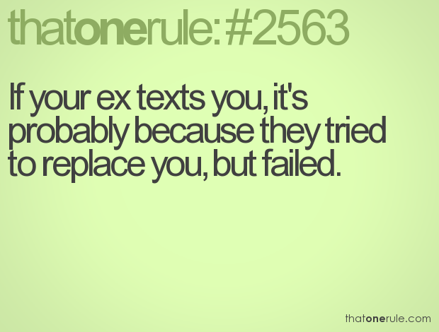 What does it mean when your ex texts you