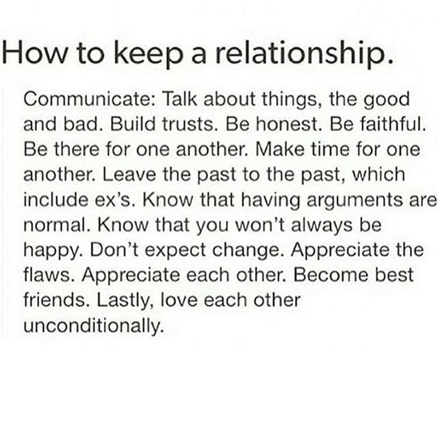 What you want in a relationship