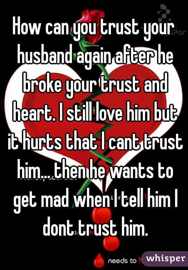 How to trust your man again after cheating
