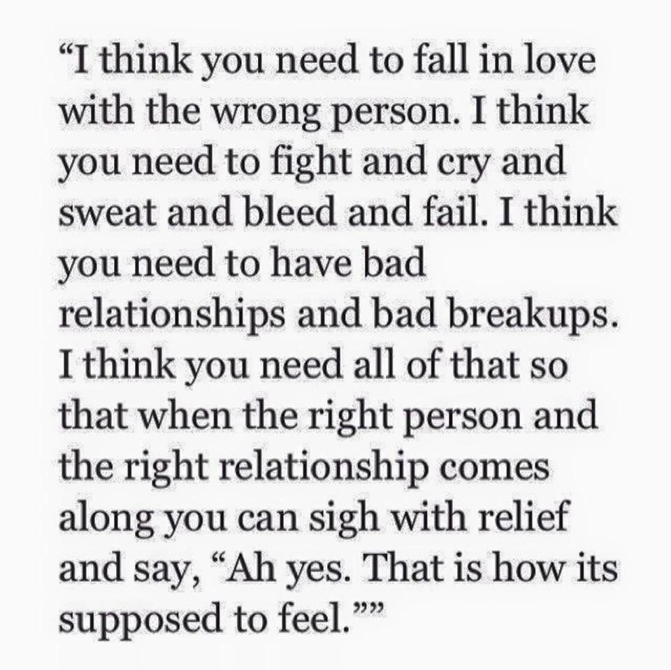 How to fall in love with the right person