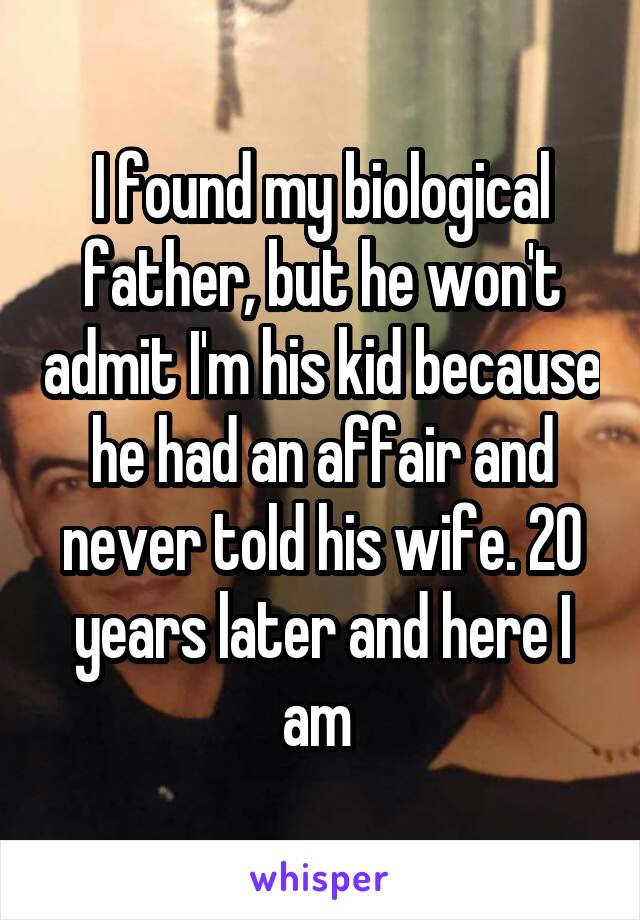 Had an affair and never told