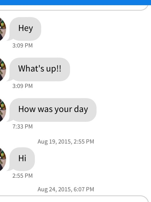 The hi text from a guy