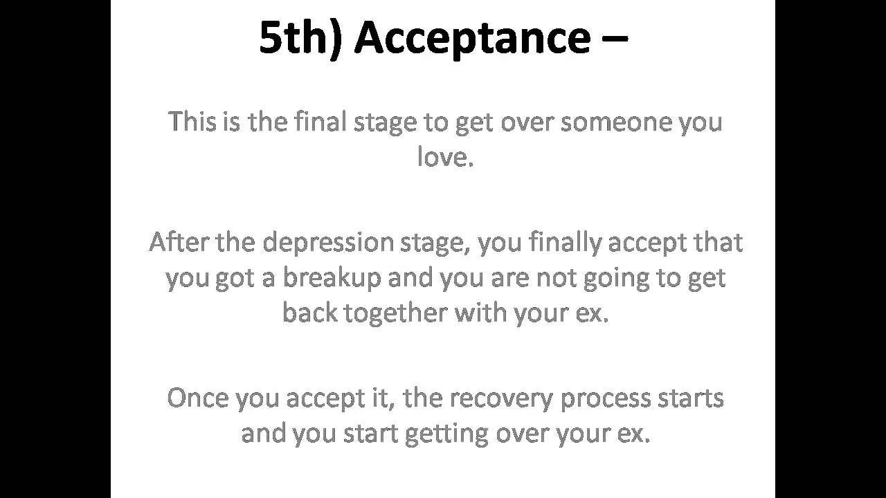 How to get over someone you love fast