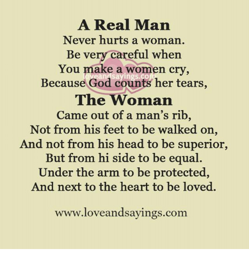 When a man hurts a woman