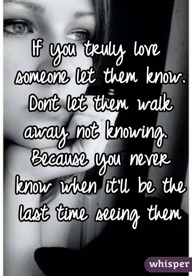 How do you know if you truly love someone