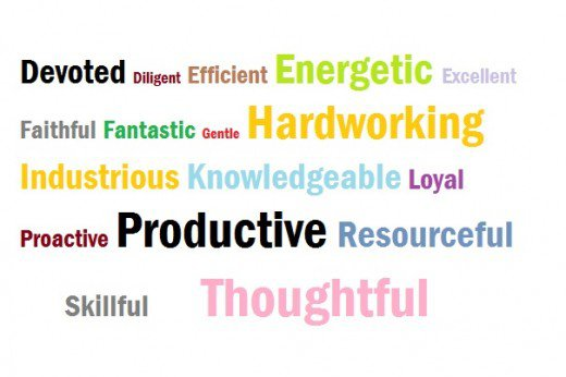 3 adjectives to describe yourself