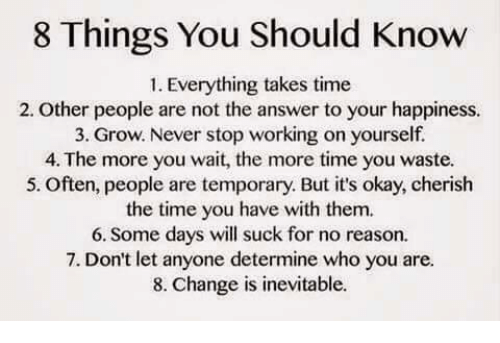 Things people should know about you