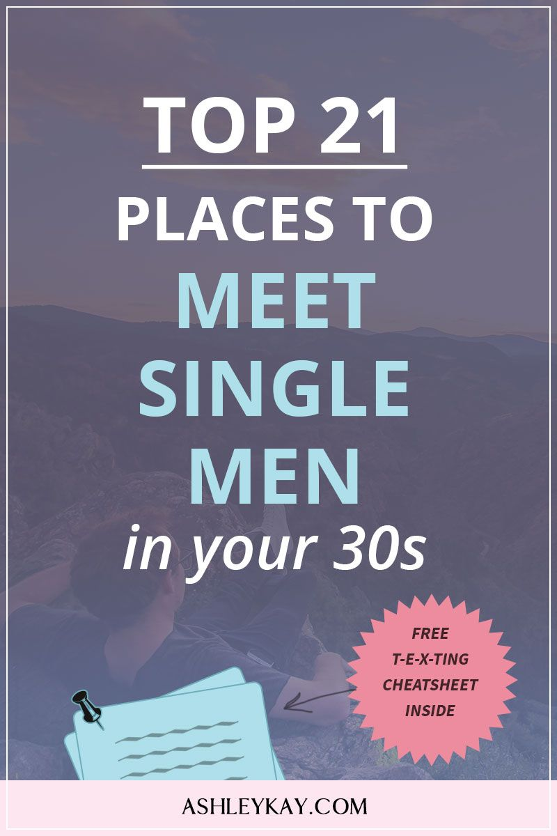 How to meet a man in your 30s