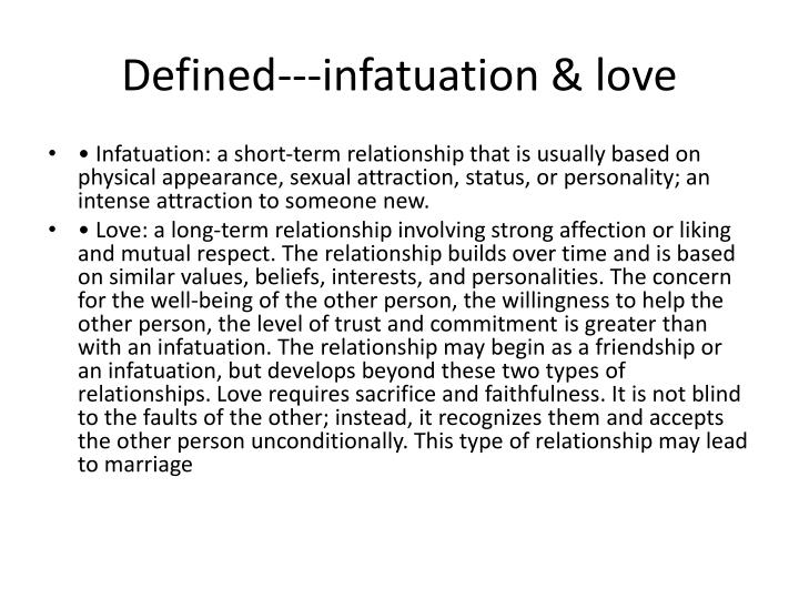 What is the definition of infatuated