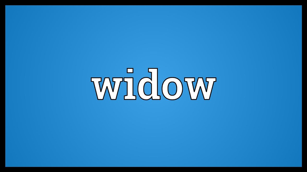 What does widowed mean