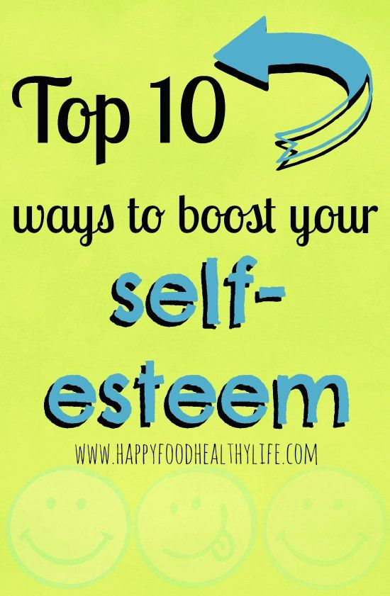 How to get your self esteem back