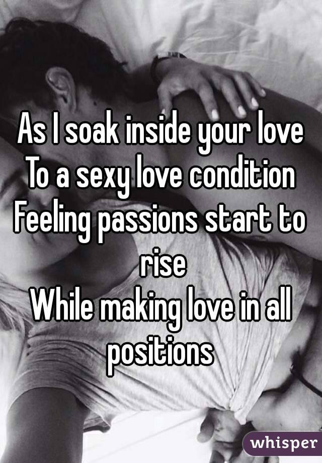 The feeling of making love