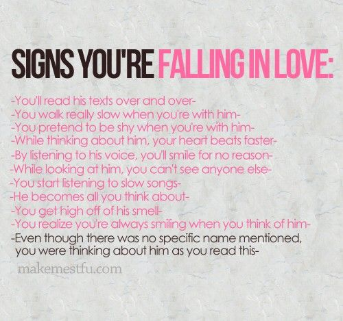 When guys fall in love signs
