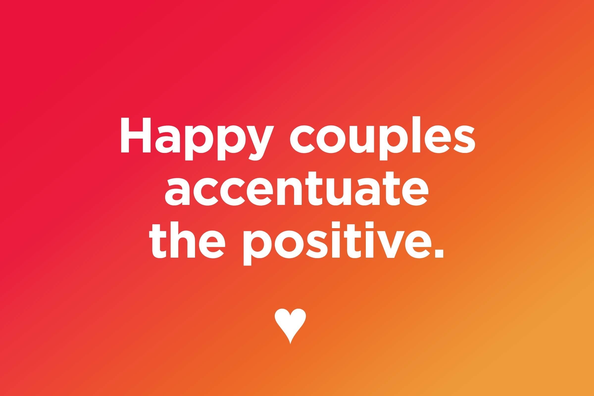 Positive things about relationships