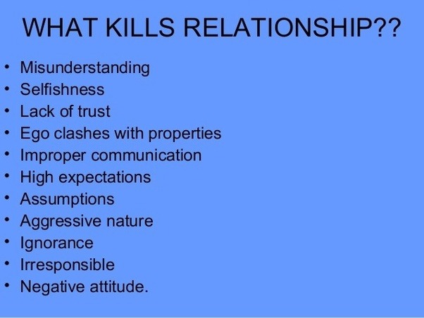 High expectations in a relationship