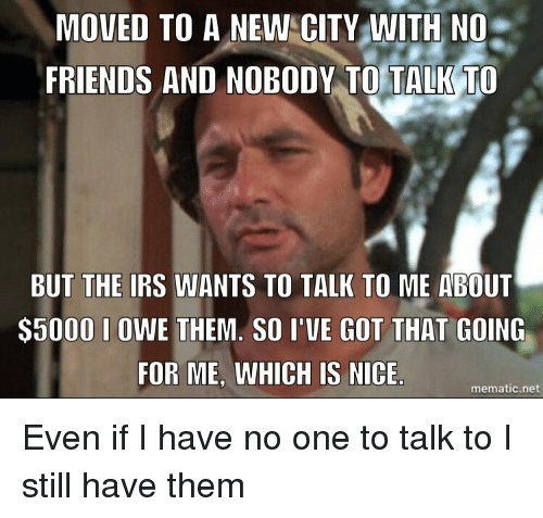 Moved to a new city no friends