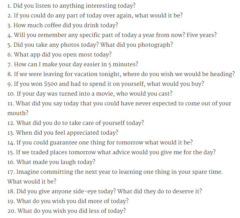 Questions to ask your boyfriend about your relationship